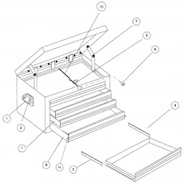 Lyžina pre zásuvku, ľavá, obr.3