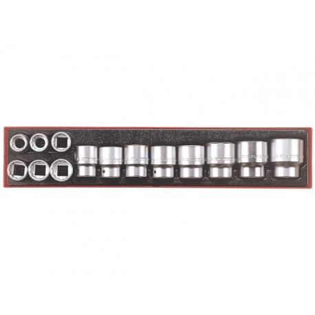 sada 12 hranných hlavíc v palcových rozmeroch na 3/4 štvorhran