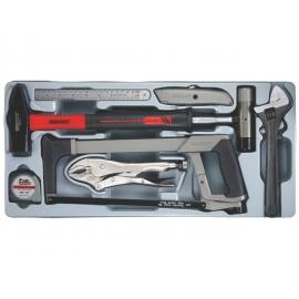 Sada náradia kladív, pílka, kľúče, kliešte, meter, nôž, 9 dielov, Teng Tools
