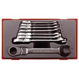 Sada kĺbových račňových kľúčov TT6508RF, 8 dielov, Teng Tools