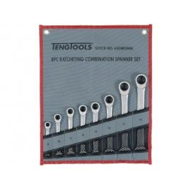 Sada očkoplochých račňových kľúčov rovných 8-19mm, látkové puzdro