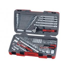 "Gola súprava Teng Tools náradia 1/4"", 3/8"", 1/2"" kombi., očkoploché, nastaviteľný kĺb"
