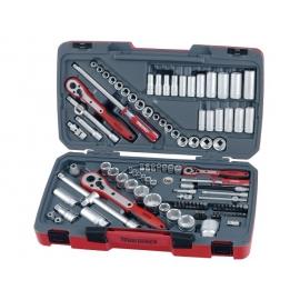 "Gola sada náradia 1/4"", 3/8"", 1/2"" mm, AF, 4-32mm, krátke, dlhé Teng Tools"