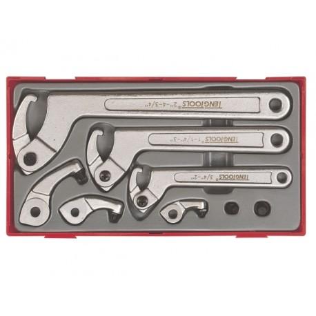 hákový kľúč 19 - 120 mm, tŕň 4 - 8 mm
