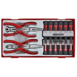 Sada mini skrutkovačov a mini klieští, 16 dielov, Teng Tools