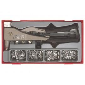 Sada nitovacích klieští na maticové nity M3 - M6, 81 dielov, Teng Tools