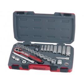 """Teng Tools sada náradia - 3/8"""" račňa s príslušenstvom, 8 - 22mm, krátke hlavce"""