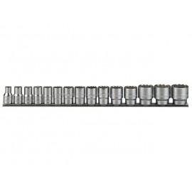 """Sada 1/2"""" hlavíc 10 - 32mm, 12hr., 15 dielov, Teng Tools"""