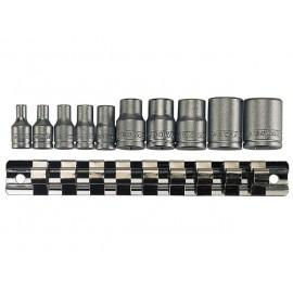 "Gola sada 1/4"", 3/8"" TORX hlavíc TX-E4 - E18, 10 dielov, Teng Tools"