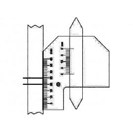 Zváracia mierka kombinovaná, mierka na zvary - na meranie zváracích spojov v rohu a výšky zváracích spojo