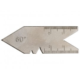 Mierka uhlová 60° na meranie závitov a uhla sústruženia