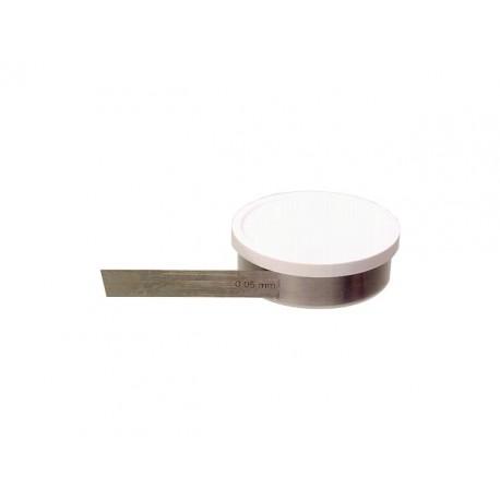 Škáromer listový, špárová dištančná páska 0,09mm