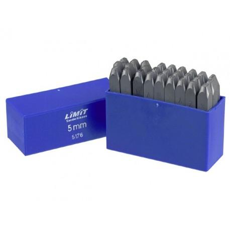 Razníky písmen A - Z Veľkosť 4 mm do 200 kp/mm