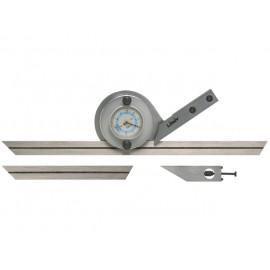 Univerzálny uhlomer oceľový pre meranie rôznych uhlov