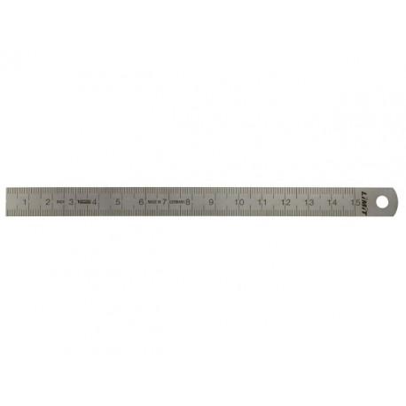 Tenké oceľové pravítko 150 mm