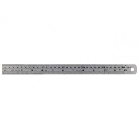 oceľové pravítko 300 mm inch