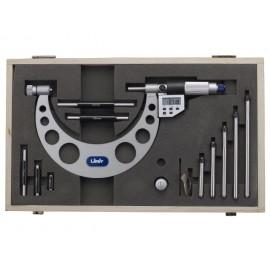 LIMIT Mikrometer strmeňový digitálny s nástavcami 0-150 mm