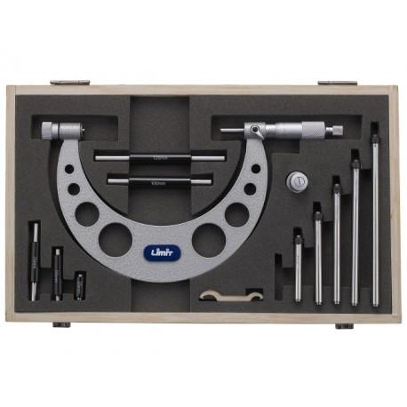 LIMIT Mikrometer strmeňový s nástavcami 0-150mm