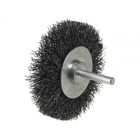 LUNA kotúčová kefa 25 mm, zvlnený oceľový drôt,