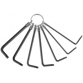 Sada L-kľúčov TORX TX10-TX40, 7 dielov, na krúžku, Teng Tools