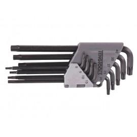 Sada kľúčov L-TORX TX8-TX40, v plastovom držiaku, 9 dielov, Teng Tools