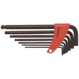 Sada L-imbusov s guličkou 2,5-10mm, 7 dielov, Teng Tools