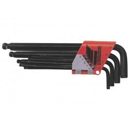 Sada L-imbusov s guličkou 1,5-10mm, 9 dielov, Teng Tools