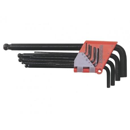 Sada L-kľúčov imbusov s guličkou 1,5-10mm, 9 dielov, Teng Tools