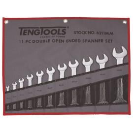Sada plochých kľúčov 6-32mm, látkové puzdro, 11 dielov, Teng Tools