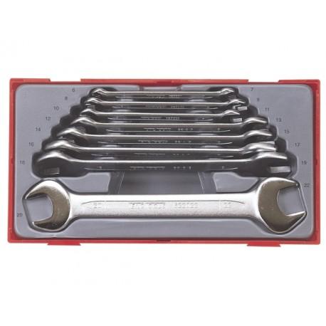 Sada Teng Tools plochých kľúčov TT6208, 6 - 22mm, 8 dielov