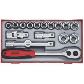 "Teng Tools Gola sada 1/2"" račňa s príslušenstvom, 10 - 24mm 6hr., 17 dielov"