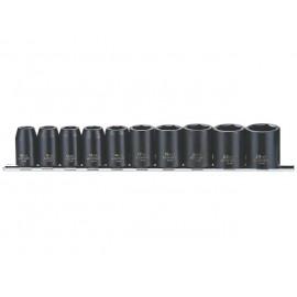 "Sada 1/2"" úderových hlavíc 10 - 24mm, 10 dielov, Teng Tools"