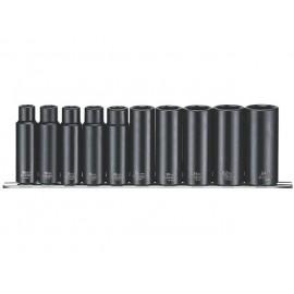 """Sada 1/2"""" úderových hlavíc 10 - 24mm, dlhých, Teng Tools"""
