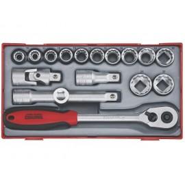 "Sada 1/2"" račňa s príslušenstvom, 10 - 24mm 12hr., 17 dielov, Teng Tools"