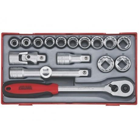 "Teng Tools Gola sada 1/2"" račňa s príslušenstvom, 10 - 24mm 12hr., 17 dielov"