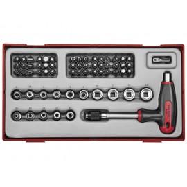 Skrutkovač s T-rukoväťou na bity, adaptér, hlavice TTTHQ62 Teng Tools